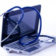 Laptop and Stethoscope — Foto Stock