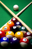 Close-up billiard balls — Stock Photo