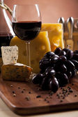 Wine and Cheese still life — Stock Photo