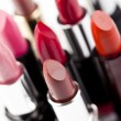 Many colored lipsticks - Stock Photo