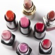 Rouge, paint, lipstick — Stock Photo