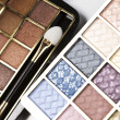 Stock Photo: Colorful eyeshadows, accesories