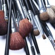 Set of cosmetic brushes on white background — Stock Photo