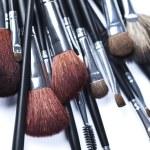 Set of cosmetic brushes on white background — Stock Photo #7359861
