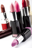 Lipsticks on white background — Stock Photo