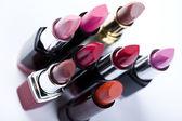 Lipsticks on white background — Stock Photo
