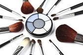 Make up and eyeshadows — Stock Photo