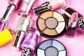 Collection of makeup products — Stock Photo