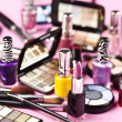 kleurrijke make-up collectie — Stockfoto