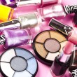 图库照片: Colorful makeup collection