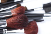 Professional makeup brushes — Stock Photo