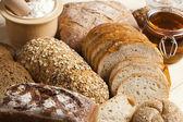 Bread background — Stockfoto