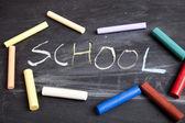 Inscription, Back to School — Stock Photo