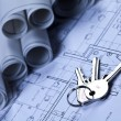 House blueprints — Stockfoto