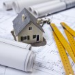 Stock Photo: Plans & House