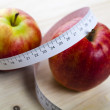 On diet - apples and tape measure — Stock Photo