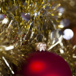 Bauble, Xmas tree — Stock Photo