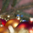 Christmas tree, spruce, baubles — Stock Photo #7378370