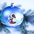 Christmas tree and Baubles — Stock Photo #7379071