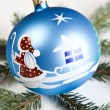 Christmas tree and Baubles — Stock Photo #7379123