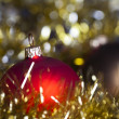 Christmas tree and Baubles — Stock Photo #7379152
