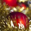 Christmas tree and Baubles — Stock Photo #7379217