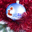 Bauble, Xmas background — Stock Photo #7379321
