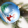 Bauble, Xmas background — Stock Photo