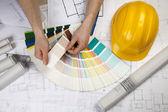 House blueprints — Stock Photo
