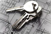 House Planning, key — Stock Photo