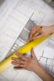 Architect Working — Stock Photo