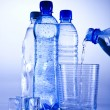 Stock Photo: Water bottle background