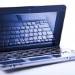 Laptop PC over background — Stock Photo
