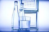 Water bottle background — Stock Photo