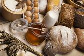 Variety of whole wheat bread — Stock Photo