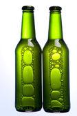 Grüne flasche bier — Stockfoto