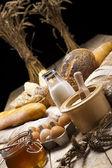 Hogaza de pan sobre fondo — Foto de Stock