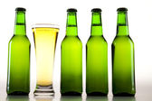 Beer collection, glass in studio. — Stock Photo