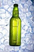 Verde botella de cerveza — Foto de Stock