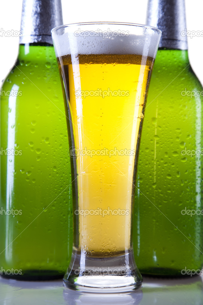 Beer collection, glass in studio. — Stock Photo #7386209