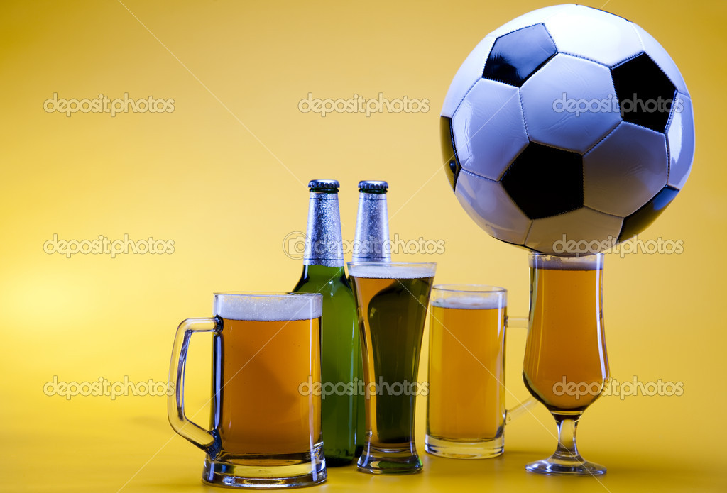 Beer collection, glass in studio.  Stock Photo #7386242