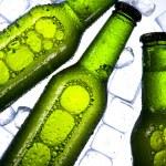 Постер, плакат: Three fresh beers with ice