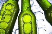 Three fresh beers with ice — Stock Photo