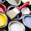 Paint and brush, Home decoration — Stock Photo #7404659