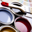 Paint and brush, Home decoration — Stock Photo #7404667