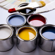 Stock Photo: Paint and brush, Home decoration