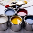 Paint and brush, Home decoration — Stock Photo #7404682