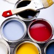 Paint and brush, Home decoration — Stock Photo #7404694