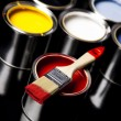 Foto Stock: Paint and brush, Home decoration