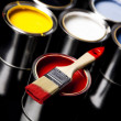 Foto de Stock  : Paint and brush, Home decoration